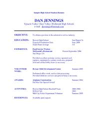 highschool resume examples easy sample resume examples for highschool students with additional