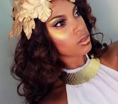 greek golden dess makeup hair tutorial