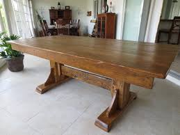charming image of rustic rectangular double pedestal dark brown reclaimed wood dining room tables as furniture for dining room decoration ideas