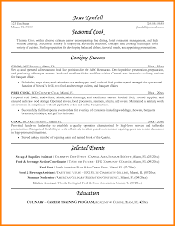 Resume Cv Cover Letter Cook Resume Examples 18 Cook Resume Sample