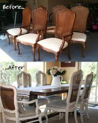 before and after diy reupholstering furniture ideas reupholster dining room