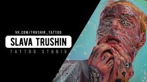 Slava Trushin Tattoo портрет Lil Peep