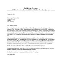 Administrative Secretary Cover Letter Sample Templates Office Admin