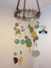 dreamy paper chandelier