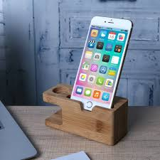 ALLOYSEED Wooden <b>Charging Dock</b> Station for Smartwatch Phone ...