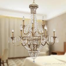 vintage 6 light large crystal chandelier fl wrought iron pendant chandelier lighting for hotel home deco retro chandelier wrought iron chandelier