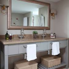 lighting ideas for bathroom. Bathroom Twin Sinks And Wall Lamps | Brilliant Lighting Decorating Ideas 25 For E