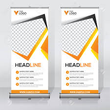 Sample Pull Up Banner Designs Roll Up Banner Design Template Abstract Background Pull Up
