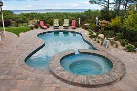 inground pools with hot tubs. Plain Inground Wonderful Inground Pools With Hot Tubs Gunite Swimming  Plus Excellent Pool Designs In Tubs P