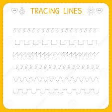 Writing Lines For Kindergarten Trace Line Worksheet For Kids Basic Writing Working Pages For