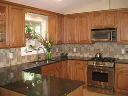 Square Kitchen Kitchen White Tile Stone Kitchen Backsplash With Hardwood