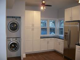stackable washer dryer Laundry Room Traditional with built in ...