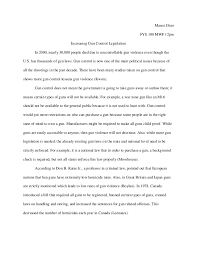 persuasive essays on gun control madrat co gun control essay