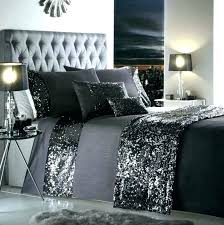 dark gray duvet cover grey bedding sets queen bed sheets dazzle sequin detail charcoal duvet cover
