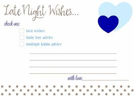 Wishes For Baby Template Free Printable Baby Shower Advice Best Wishes Cards Fantabulosity
