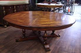 luxury rustic extra solid walnut dining table opens to 100 inches seats 12 large round
