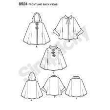 Poncho Sewing Pattern Simple Simplicity Pattern 48 Child's Poncho Sewing Patterns From Simplicity