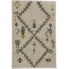 new contemporary modern moroccan tribal style rug two layer texture boho rug for