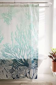 Coral Design Shower Curtain Ombre Coral Reef Shower Curtain Beach Shower Curtains