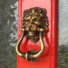 majestic br lions head door knocker