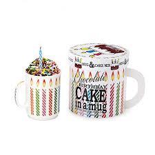 birthday cake in a mug