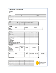 Client Profile Template 50 Ideal Customer Profile Templates Word Excel