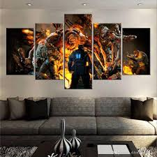 2018 60x32 canvas art print 5 panels game living room wall art gears of war canvas print multi panel canvas extra large canvas no frame from