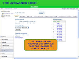 dtms unit manager screen