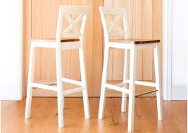 java cross cream painted tall bar stool oak seat