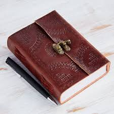 handcrafted indra um embossed leather journal
