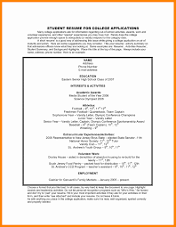 Extracurricular Resume For College Extra Curricular Activities In