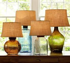 pottery barn clift thumb colored glass table lamps from pottery barn