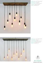 grey wood chandelier