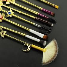 themed makeup brushes. sailor moon wand stick makeup brush set (gold) themed brushes r
