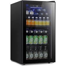 mini fridge glass door for soda beer