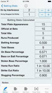 Batting Tracker Baseball Stats For Players By Verosocial