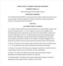 template for llc operating agreement 50 lovely llc operating agreement washington state agreement form