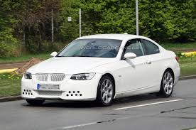 BMW 3 Series bmw 3 series in white : BMW 3-Series Coupe Facelift Spied in all white