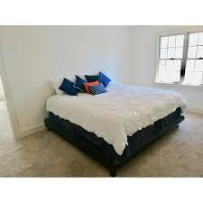California King Platform Bed Frame w/ Java Cafe Varnish - AptDeco