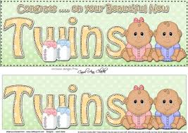 Large Dl Ethnic New Baby Congratulations On Your Beautiful New Twins 3d Decoupage
