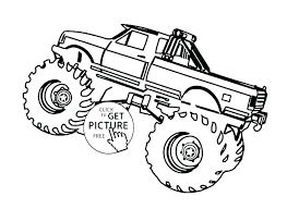 Free Monster Truck Coloring Pages Monster Jam Coloring Pages Free