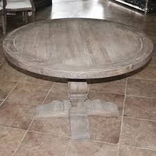 enchanting distressed round dining table with french country inside idea 10
