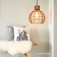 Hanglamp Globe Lingehof Hout Woonkamer Straluma