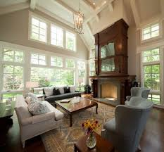 Living Rooms With Area Rugs Revere Pewter Living Living Room Transitional With Tall Windows