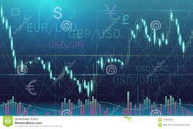 Candlestick Chart In Financial Market Vector Illustration On
