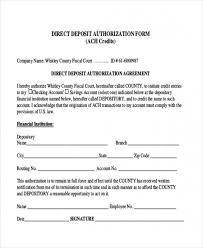 Direct Deposit Authorization Form Custom Download Our Sample Of Sample Direct Deposit Forms 44 Free Documents