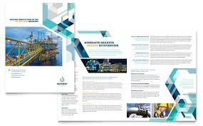 Brochure Templates For It Company Oil Gas Company Brochure Template Word Publisher