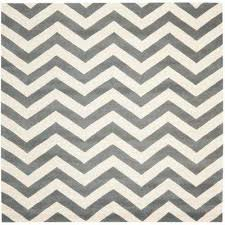 ham dark grey ivory 9 ft x 9 ft square area rug