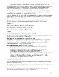 Resume Accomplishments Examples Professional Resume Format Examples