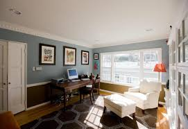 home office sofa. Office:Unusual Home Office Interior Design With Cozy White Lounge Sofa And Brown Rug On